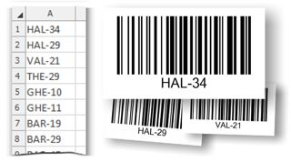 Convert data from Excel to barcodes